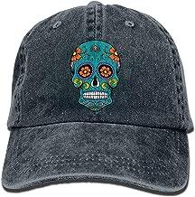 QHZM Sugar Skull Vintage Jeans Baseball Cap Outdoor Sports Hat for Men and Women