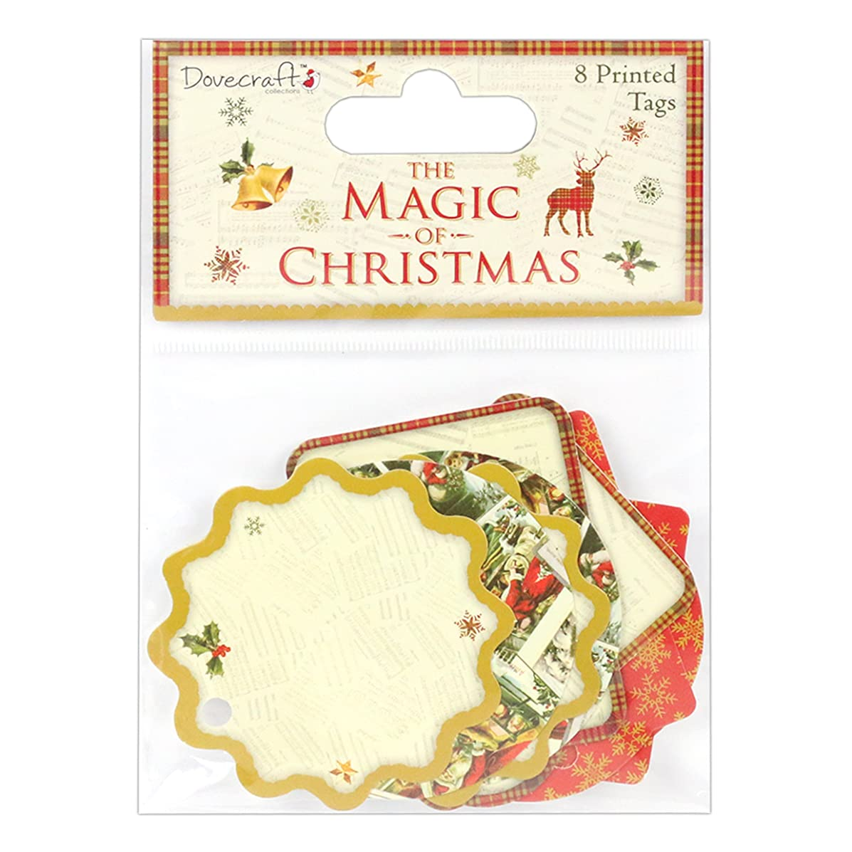 Dovecraft Christmas Collection - The Magic of Christmas Printed Tags