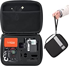 MoKo GoPro Case, Camera Case Protective Bag Hard Carrying Case Shockproof Travel Storage with Handle and Carabiner for GoPro Hero 6 5 4, Black