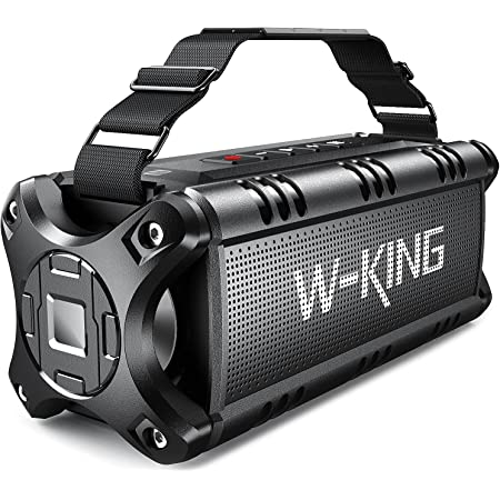 Bluetooth Speaker Loud 50W Punchy Bass, W-KING IPX6 Waterproof Portable Bluetooth Speaker with 8000mAh Power Bank, Bluetooth 5.0 Outdoor Speaker Support TF Card/NFC/24H Playtime/AUX