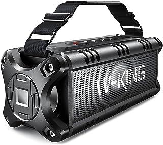W-KING 50W Bluetooth Lautsprecher, Super Laut Outdoor Lautsprecher Wasserdicht IPX6, Druckvoller Bass Kabelloser Lautsprecher Bluetooth 5.0 mit Powerbank 8000mAh, 24h Akku, Für NFC/TF-Karten