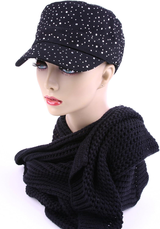 Glitter Rhinestones Trim Fashion Cadet Hats 174HC