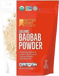 Sponsored Ad - BetterBody Foods Organic Baobab Powder with Electrolytes, Iron, and Vitamin C (6 oz.)