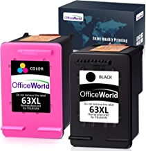 $26 » OfficeWorld Remanufactured 63 63XL Ink Cartridge Replacement for HP 63XL 63 XL Ink Cartridge (Black + Color), Work with HP Envy 4520 4516 Officejet 4650 3830 3831 4655 Deskjet 2130 2132 1112 3630 3633