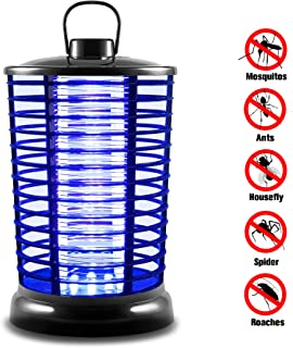 XMSTORE Bug Zapper, Portable Standing or Hanging Electric Flying Zapper with UV Light for Indoor and Outdoor Use