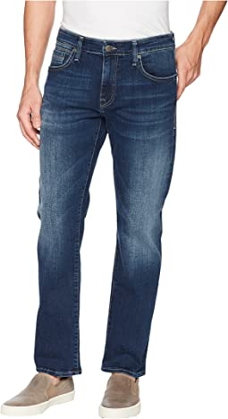 Mavi Jeans Zach Regular Rise Straight Leg in Dark Blue Williamsburg