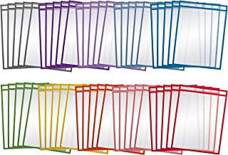"""Dry Erase Pocket Sleeves, 50 Count, Crystal Clear, by Better Office Products, Oversized, 10.25"""" x 13.75"""", Heavy Duty Dry E..."""