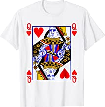 Queen of Hearts Playing Card Poker Card Costume Tee Shirt