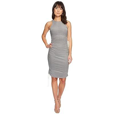Nicole Miller Drawstring Dress (Blue/White) Women