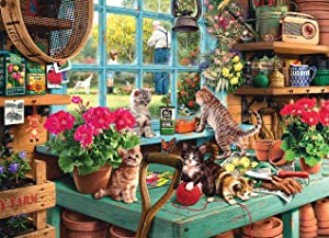 Jigsaw Puzzles for Kids & Adult - 1000 Pieces Windowsill Cat Puzzle - Family Funny Decompression Games…
