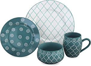 Baum Moroccan 16-Piece Dinnerware Set in Turquoise