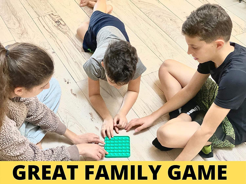 Octagon Yellow Kids Toys Poppet Fidget Toy Squishy Dimple Fidget Popper Game for Autism Adult Figit Toys Push Pop Bubble Fidget Sensory Toys Push it Fidget Toys for Anxiety Relief