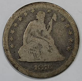 1876 CC Seated Liberty Quarter 25c Good