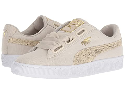 outlet store ea95e 2ac10 Blue Basket Heart Silver Canvas White Flower puma puma Puma ...