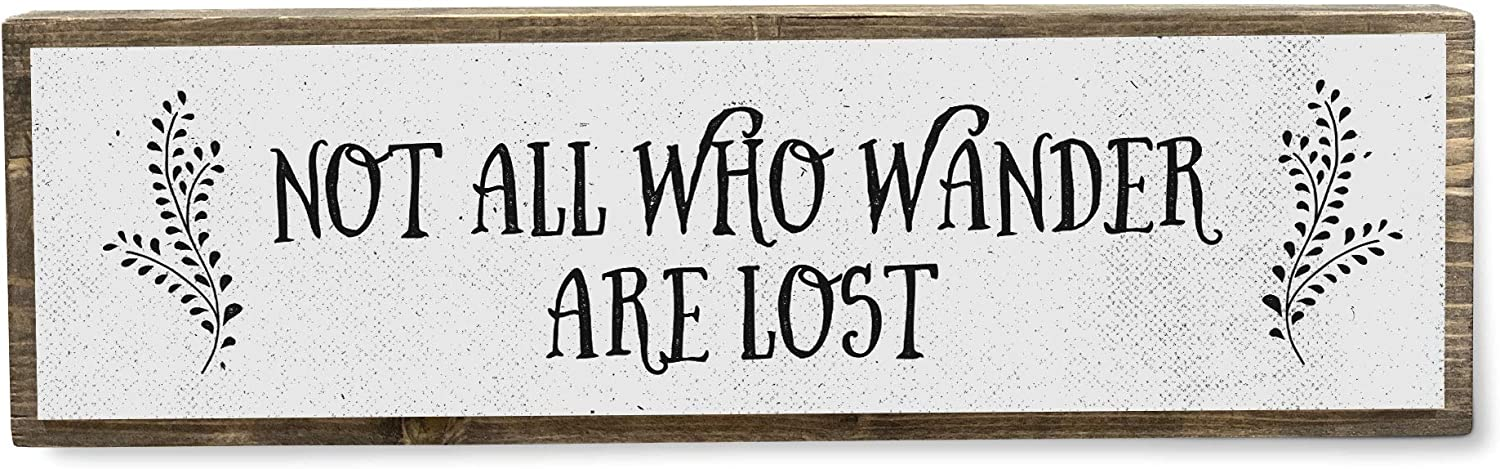 Not All Excellence Who Wander are Lost Inspirational Wood Over item handling Handmade - Metal