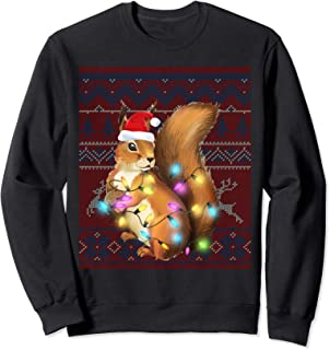 Squirrel Lover Gifts Squirrel Ugly Sweater Christmas Xmas Sweatshirt