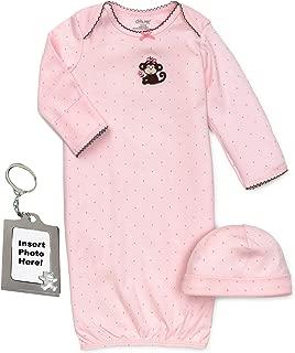 Little Me Preemie Newborn Boy Girl Unisex Layette Gown Baby Hat