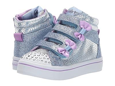 SKECHERS KIDS Twi-Lites 20240N (Toddler/Little Kid) (Light Blue/Silver) Girl