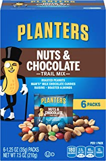Planters Chocolate Trail Mix Nuts (1.25 oz Packets, 6 Count)