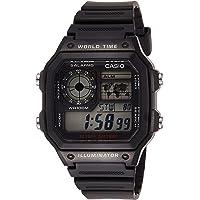 Casio World Time Digital Chronograph Men's Watch (Black)
