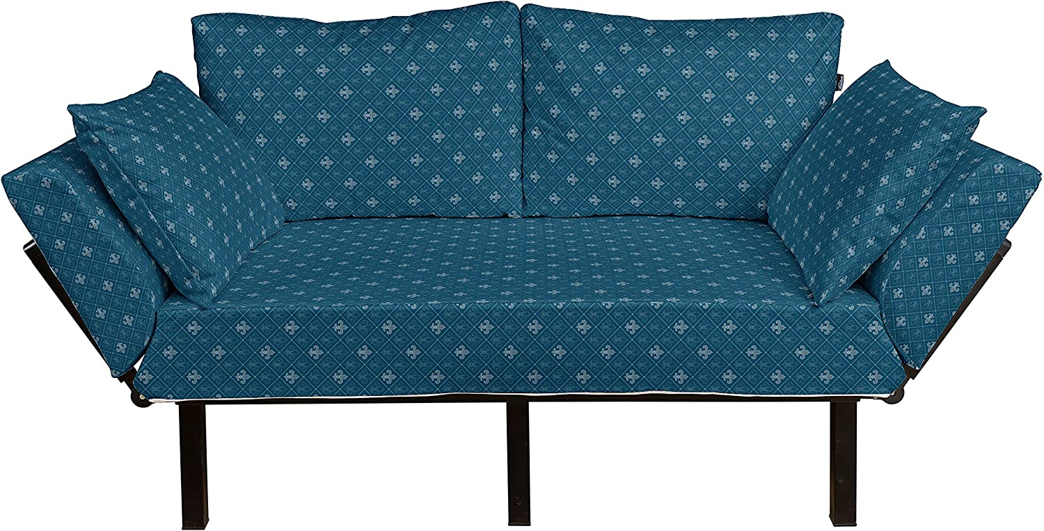 Ambesonne Fleur De Lis Futon Middle Abstract Couch Ages Ranking TOP6 Floral Max 83% OFF