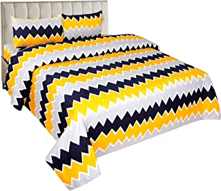 BSB Trendz Microfiber 1 Double Bedsheet with 2 Pillow Cover (Multicolour)-Set of 3 Piece