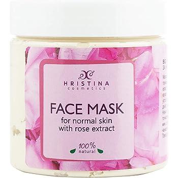 Maschera idratante 100% naturale all'argilla, con rosa, caolino e olio di semi d'uva, idratante, detergente e illuminante, 200 ml