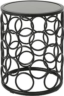 Christopher Knight Home Athena Indoor Modern 16 Inch Finish Side Table, Grey Ceramic Tile/Black Metal