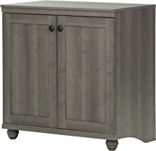 South Shore 10323 Small 2-Door Storage Cabinet with Adjustable Shelf, Gray Maple