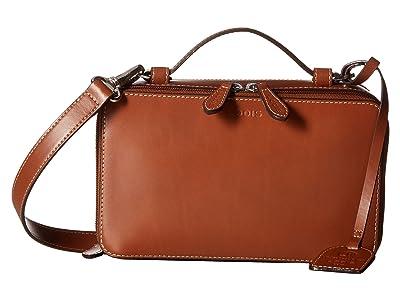 Lodis Accessories Audrey RFID Sally Zip Around Crossbody (Sequoia/Papaya) Cross Body Handbags