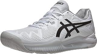 ASICS Men's Gel-Resolution 8 Tennis Shoes, 13, White/Black