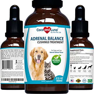 Adrenal Balance for Dogs and Cats - Cushings Treatment for Dogs, Adrenal Support for Dogs and Cats � with Ashwagandha, Astragalus Root and Milk Thistle � 2oz (60ml)
