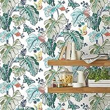 RoomMates RMK11587RL Multicolor Boho Palm Peel and Stick Wallpaper