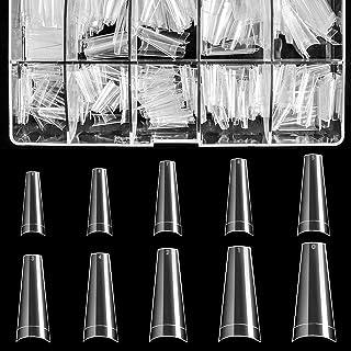 نکات ناخن اکریلیک پاک - نکات ناخن تابوت BTArtbox 500pcs مصنوعی بالرین ناخن جعلی نیمه پوشش ناخن کاذب با قاب مخصوص سالن های ناخن و ناخن DIY ، 10 اندازه
