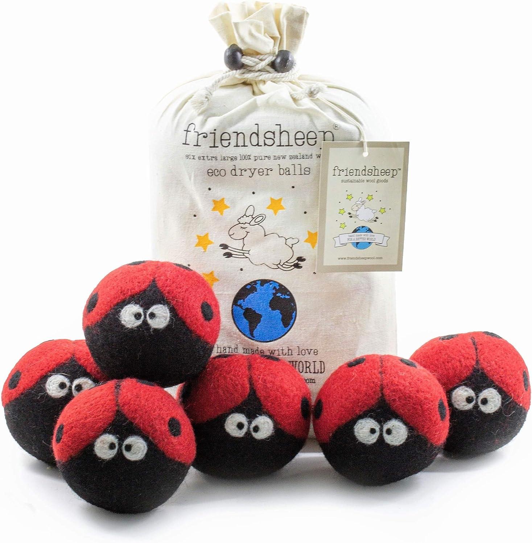 Friendsheep Wool Dryer Cheap Brand new bargain Balls 6 Premium Organic Pack XL Reusable