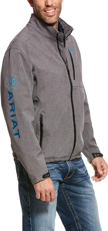 ARIAT Men's Logo 2.0 Softshell Jacket Charcoal Size