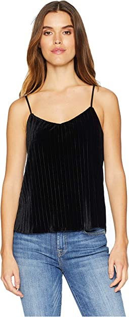 Black Pleated Velvet