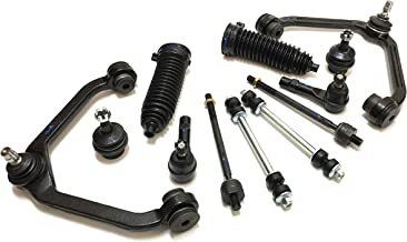 PartsW 12 Pc Suspension Kit for Ford Explorer Explorer Sport Trac Ranger Mazda B2500 B3000 B4000 Mercury Mountaineer Tie Rod Ends, Sway Bars, Lower Ball Joints, Gear Bellows, Upper Control Arms