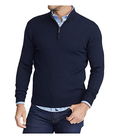UNTUCKit Merino Wool 1/4 Zip (Navy) Men