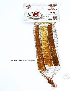 Mountain Dog Chews Medium Moose Antler Dog Chew Strips Medium Moose MUNCHERS [8 Inches Long- 3 per Pack] 100% Organic USA Sourced Grade-A+ Naturally Shed Moose Antler Chews