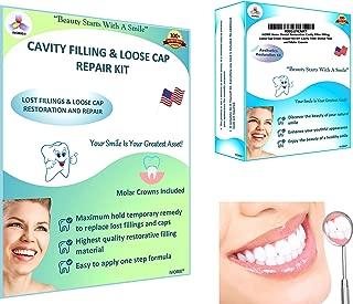 IVORIE Home Dental Restoration Cavity Filler Filling Loose Cap Crown Repair Kit DIY Cavity Filler Dental Tool and Molar Crowns