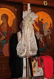 FavorOnline Baptism and Christening Greek Candle Decorated - Baptism Lambatha/Lambada Baptism 18-Inch Candle