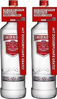 Smirnoff Red No. 21 Premium Vodka Triple Destilled, 2er, Wodka, Alkohol, Alkoholgetränk, Flasche mit Pumpe, 40%, 3 L, 715111