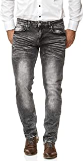 Jeel Men's Jeans - Regular Straight Cut - Stretch - Jeans Trousers Basic Washed