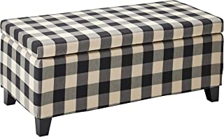 Best black and white plaid ottoman Reviews