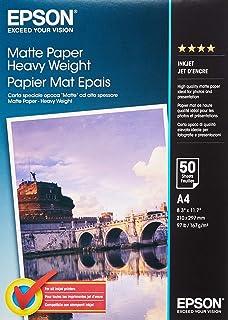 Epson C13S041256 matowy papier do drukarek atramentowych, 167 g/m2, A4, jednostronny, 50 arkuszy w opakowaniu