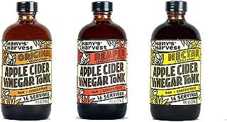 Hany's All Natural Fire Cider Tonic Assortment Pack 8 oz Original Reaper Nectar