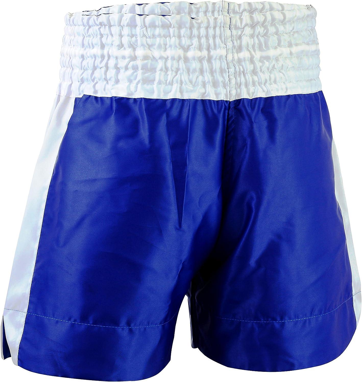 EVO Men Boxing Fight Shorts MMA Kick Boxing Martial Arts Gear Muay Thai UFC 2XL, Blue