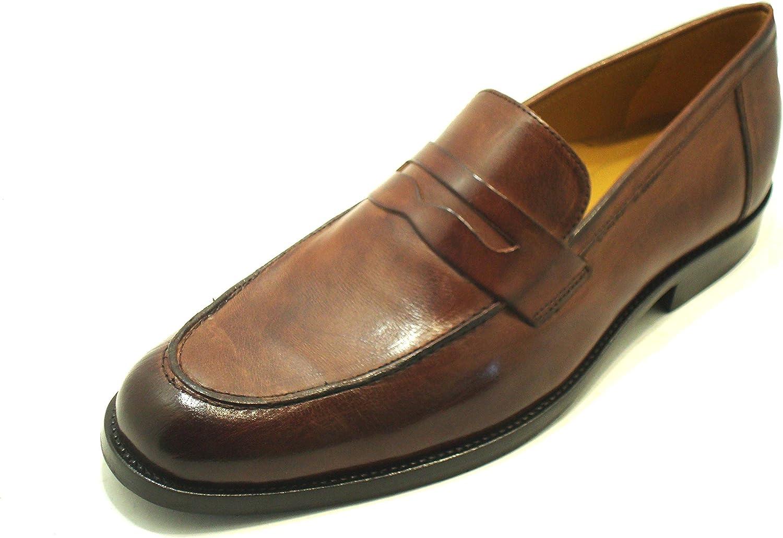 Novelty Men's Loafer Flats Brown Mahogany