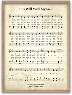 Refinery Number One It is Well with My Soul - Unframed Hymn Wall Art Print